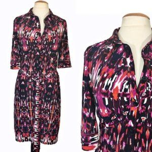 Laundry by Shelli Segal Belted Shirt dress Sz 8